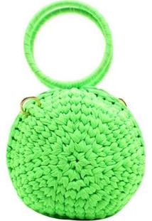 Bolsa Tricô Birô Feminina - Feminino-Verde