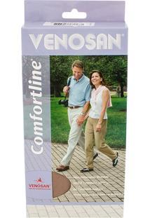 Meia Calça Venosan Confortline 20-30 Mmhg M (Tamanho Médio) Curto, Cor Bege, Ponteira Aberta