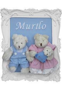 Enfeite Maternidade Família Bebê Urso Ursinho Menino Azul Potinho De Mel - Kanui
