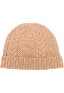N.Peal Cable-Knit Beanie Hat - Neutro