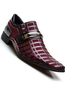 Sapato Social Masculino Calvest Macio - Masculino-Bordô