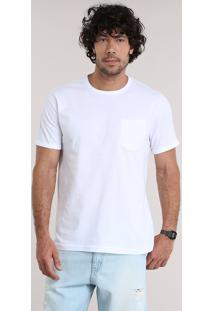 Camiseta Com Bolso Branca