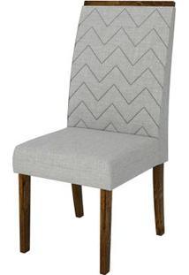 Cadeira Áurea 2 Peças - Rústico Malbec Com Linho Claro