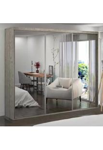 Guarda-Roupa Casal 3 Portas De Espelho 100% Mdf 1985E3 Demolição - Foscarini