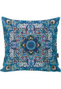 Capa Para Almofada Indian- Azul & Azul Claro- 45X45Cstm Home