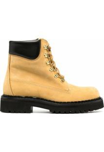 Moschino Ankle Boot Com Cadarço - Neutro