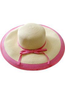 Chapéu Zohar Acessórios De Palha Rosa