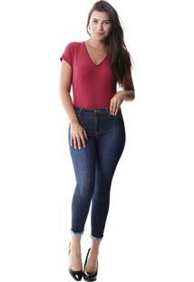 Calça Jeans Sawary Cropped Push Up Azul - Kanui