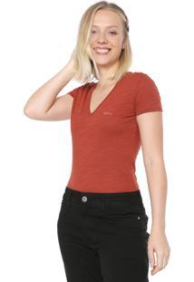 Blusa Colcci Logo Caramelo
