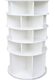 Sapateira Giratória Multidecor Com Divisória Para Botas 1,25M Branca