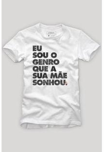 Camiseta Reserva Carnaval Eu Sou O Genro Masculina - Masculino-Branco