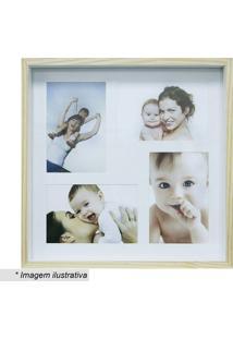 Painel Para Fotos Color Wood - Bege & Branco - 30X30Kapos