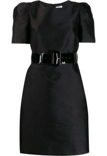 P.A.R.O.S.H. Vestido Com Cinto - Preto