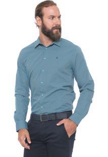 Camisa Forum Reta Xadrez Verde/Azul