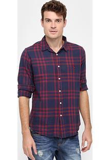 Camisa Reserva Xadrez Otta Fio Tinto - Masculino