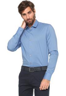 Camisa Calvin Klein Slim Cannes Azul