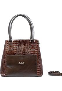 Bolsa Em Couro Recuo Fashion Bag Tabaco