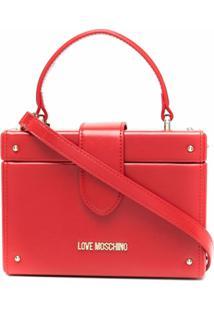 Love Moschino Bolsa Box Com Alça De Mão - Vermelho