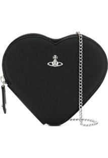 Vivienne Westwood Heart Shaped Purse - Preto