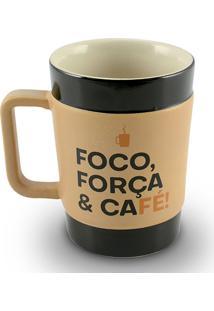 Caneca Coffe To Go-Foco 150Ml-Mondoceram - Pardo
