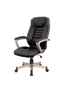Cadeira Catalunha Assento Pu Preto Base Nylon - 6218 Preto
