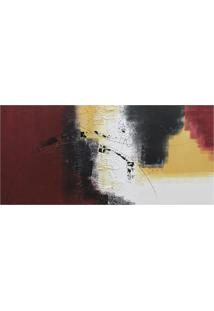 Quadro Artesanal Abstrato Vinho 60X130 Cm