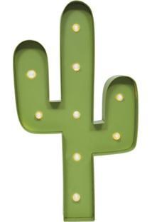 Quadro Decorativo Cacto Verde 26 Cm