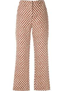 Andrea Marques Calça Estampada Com Cintura Baixa - Marrom