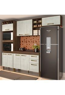 Cozinha Compacta Viena 9 Pt 2 Gv Marrom E Gelo