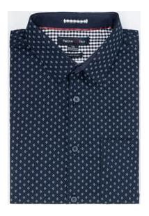 Camisa Manga Curta Comfort Fit Estampada