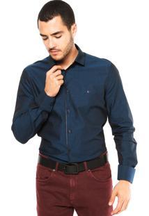 Camisa Aramis Bordado Azul