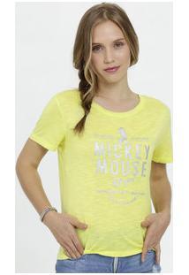 Blusa Feminina Flamê Neon Estampa Mickey Disney