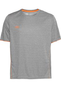 Camiseta Olympikus Basic Cinza/Laranja