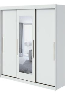 Guarda Roupa Aquarius 3 Portas Com Espelho Branco 2020