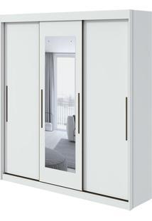 Guarda Roupa Aquarius 3 Portas Com Espelho Branco