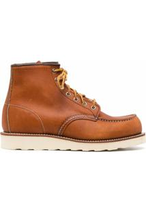 Red Wing Shoes Ankle Boot Com Cadarço - Brown