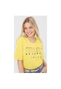 Camiseta Colcci Girl From Rio Amarela