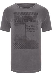 Camiseta Masculina Traditional Workforce - Cinza