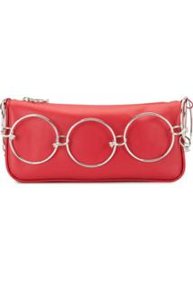 D'Heygere Bolsa Tiracolo Jewelry Com Logo - Vermelho