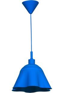 Luminária De Teto Urban Silicone Skirt Shape 30X30X18Cm Azul.