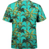 Camiseta Estampada Over Fame Palmeiras Tropicais Verde 369a90ccda72e