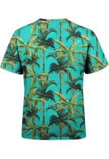 Camiseta Estampada Over Fame Palmeiras Tropicais Verde