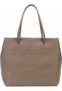 Marc Jacobs Bolsa Tote Com Logo Gravado - Marrom