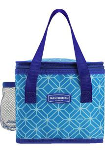 Bolsa Térmica Geométrica- Azul & Azul Escuro- 17,5X1Jacki Design