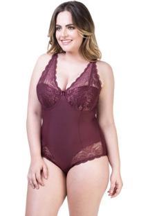 Body Modelador Renda Vinho | 534.051