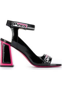 Pinko Sandália Salto Bloco - Preto