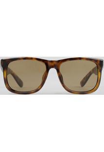 Óculos De Sol Quadrado Masculino Oneself Tartaruga - Único