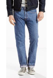 Calça Jeans Levi'S 505 Regular Masculina - Masculino-Azul