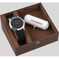 c0a4267f0cd Kit De Relógio Analógico Mondaine Masculino + Caixa De Som - 99188G0Mvni2K1  Prateado - Único