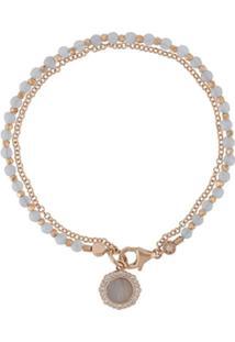 Astley Clarke Pulseira 'Lace Agate Luna Biography' Banhada A Ouro 18K - Metálico